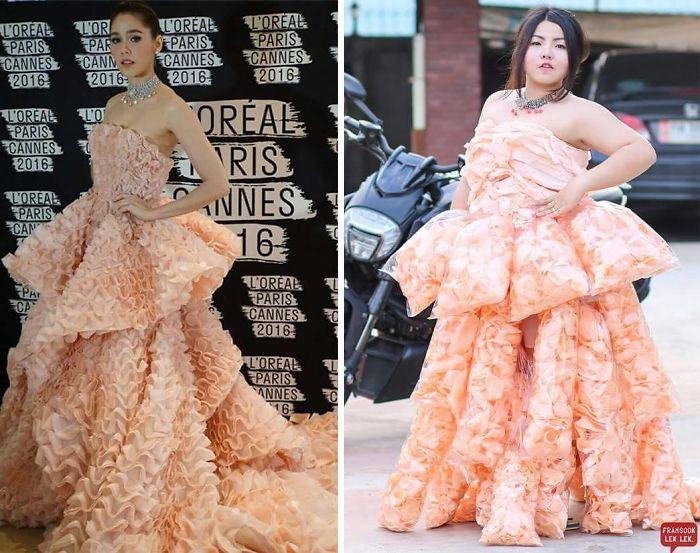 Cette femme recrée les tenues de célébrités avec de la nourriture, et le résultat est juste trop drôle