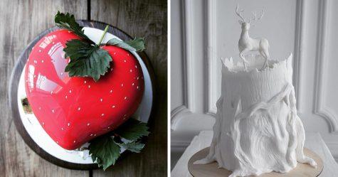 Un gâteau de mariage améthyste dont la pâtissière a assurément subi beaucoup de pression
