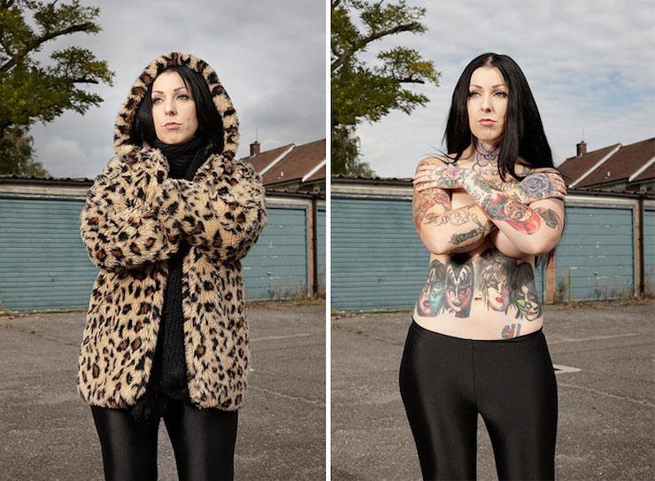 Ce photographe a montré ce qui se trouve sous les vêtements de personnes tatouées en 16 puissants clichés