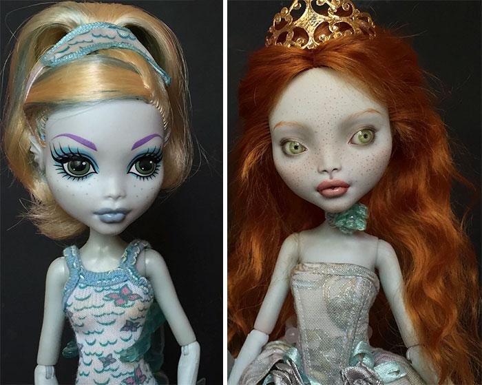 Cette artiste ukrainienne démaquille des poupées pour les repeindre, et le résultat est presque trop réel (25 images)