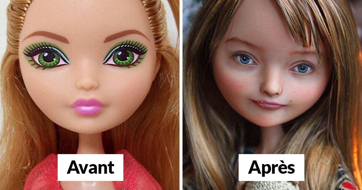 Cette artiste ukrainienne démaquille des poupées pour les repeindre et le résultat est presque trop réaliste (25 images)