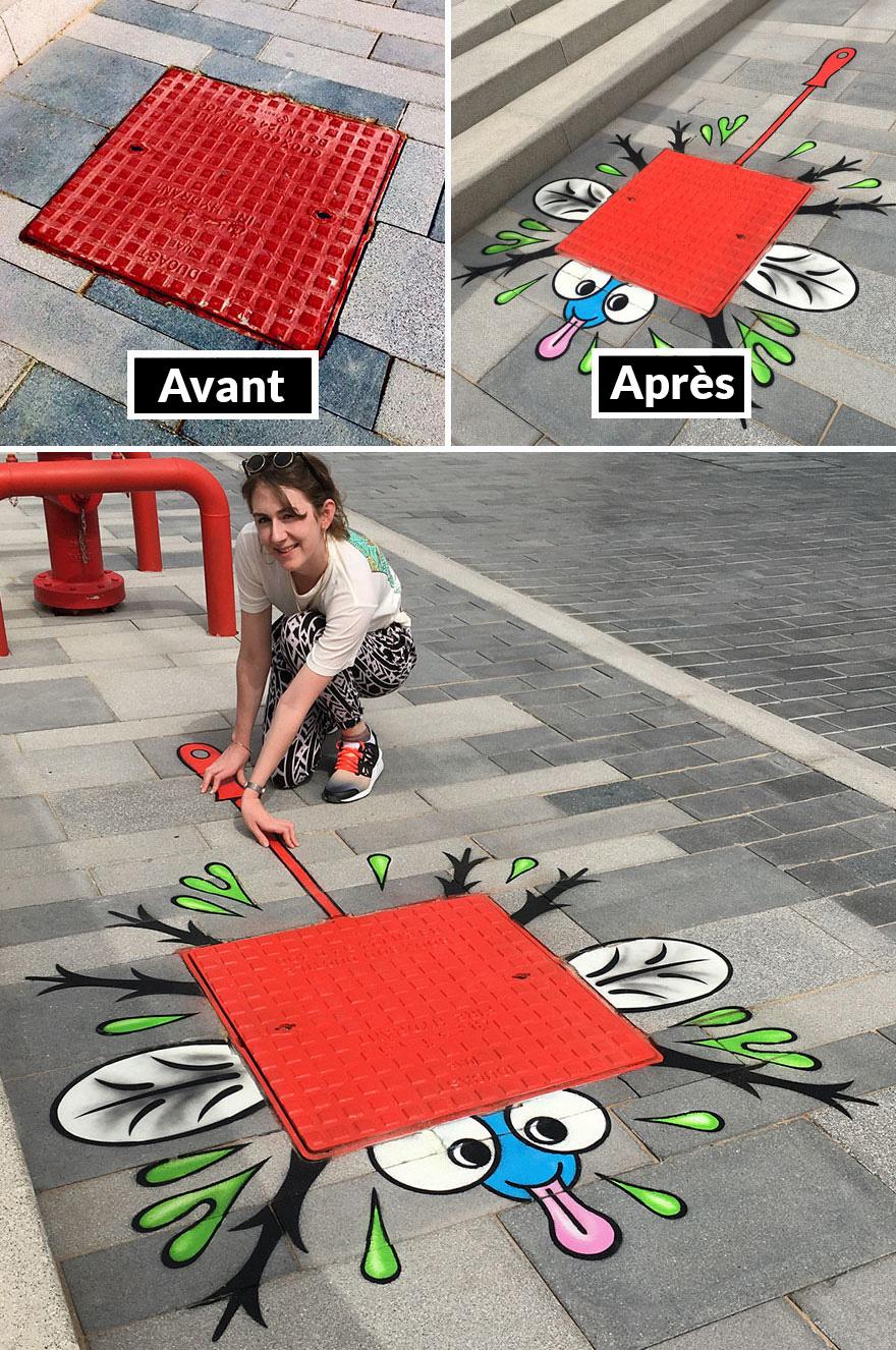 Il y a un artiste de rue génial en cavale, et espérons que personne ne l'attrape (30 nouvelles images)