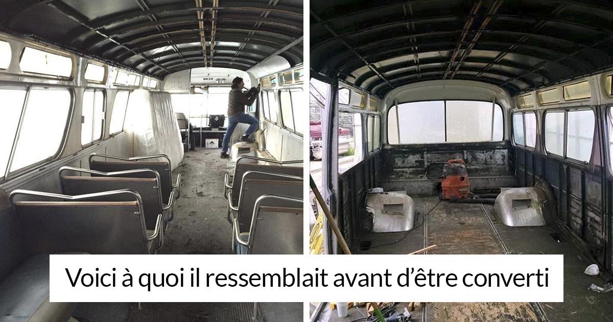 Cette femme a passé 3 ans à convertir un vieil autobus en maison mobile