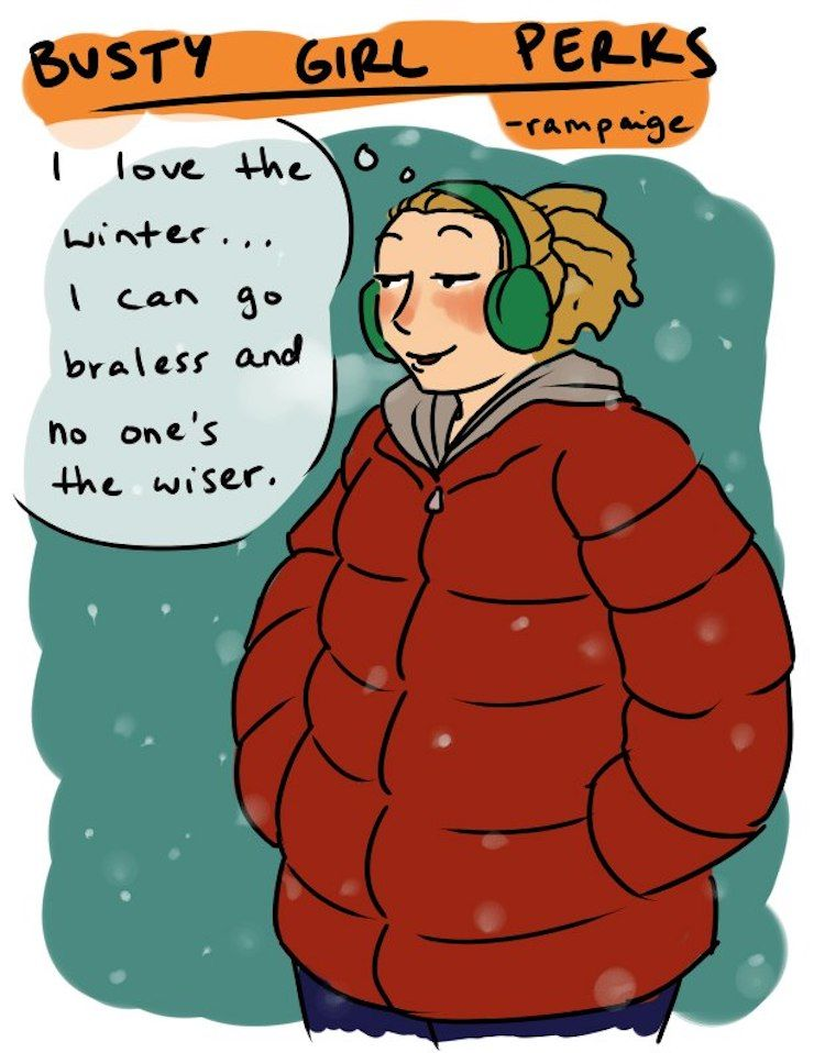 20 bandes dessinées hilarantes que seules les femmes à forte poitrine comprendront
