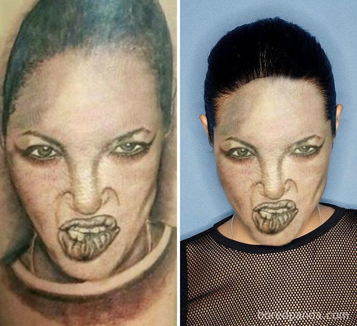 On a échangé 33 tatouages avec des visages pour montrer à quel point ils sont affreux, et Angelina Jolie n'est plus très sexy