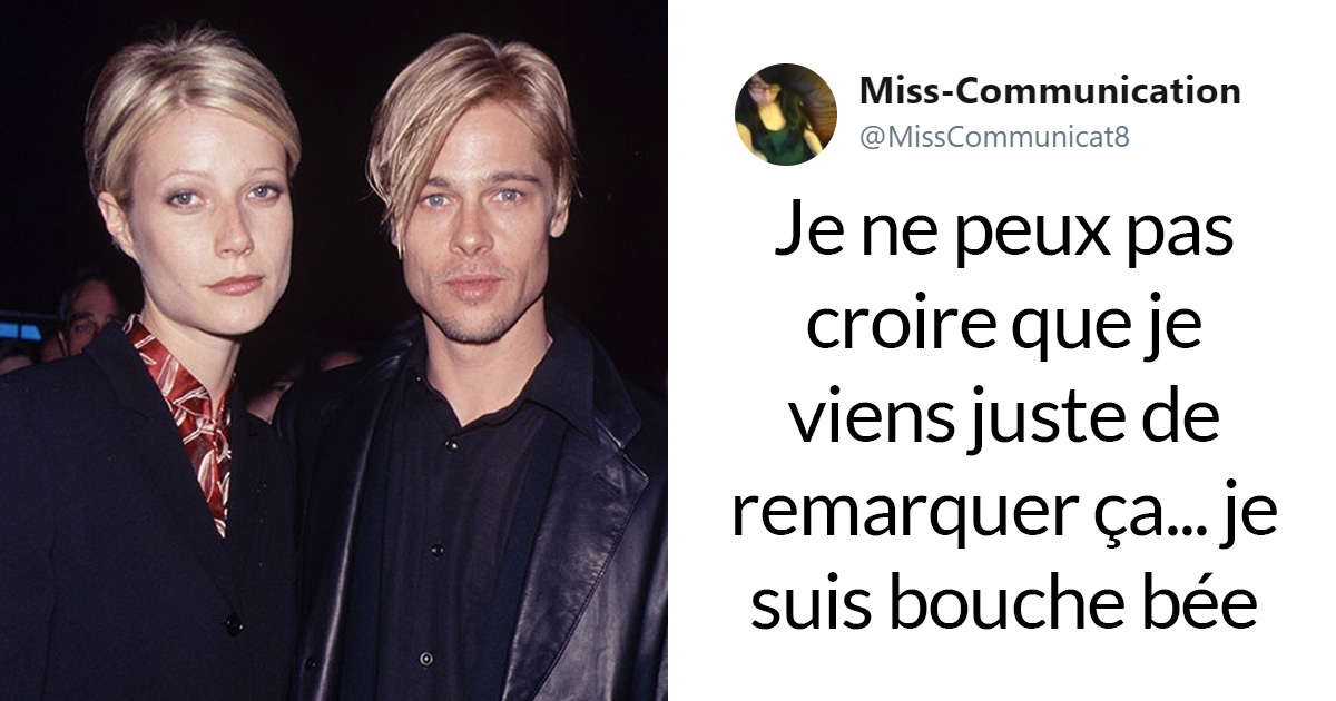 Quelqu'un vient de remarquer que Brad Pitt ressemble toujours à la femme qu'il fréquente, et on ne peut plus arrêter d'y penser