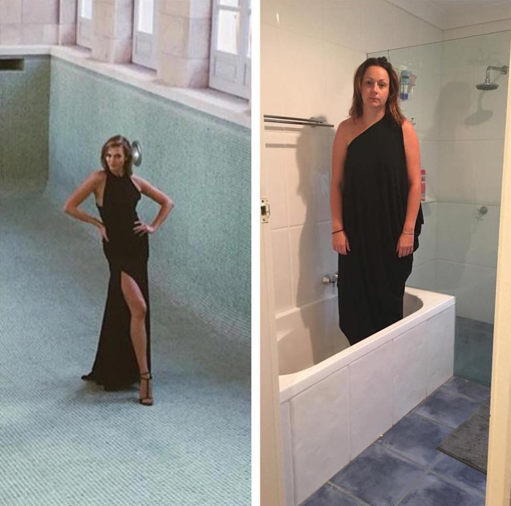 Cette femme qui parodie les photos instagram de célébrités est de retour, et ces 19 nouvelles images vont vous faire pleurer de rire