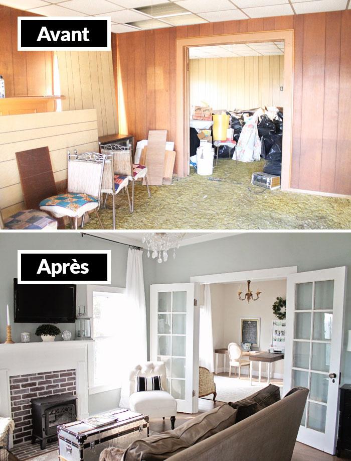 22 pièces avant et après un relookage qui vont vous donner des tonnes d'idées pour votre maison