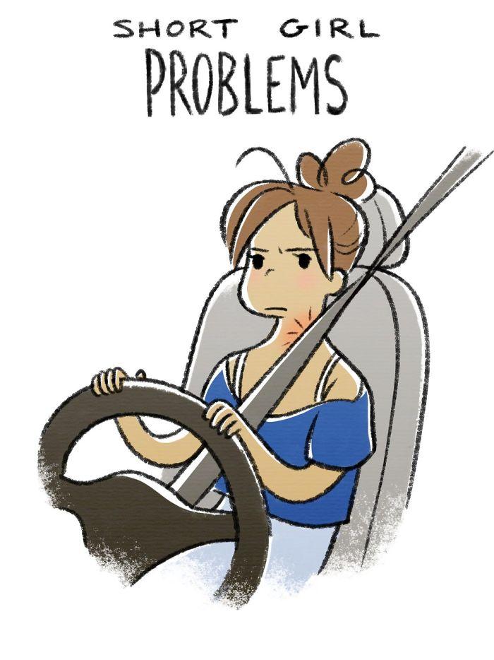 Cette artiste présente les problèmes de grandes et petites filles en 14 illustrations hilarantes