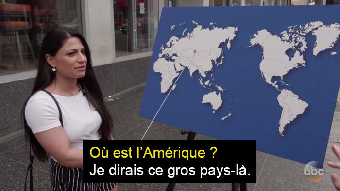 Jimmy Kimmel a posé une question de géographie bêtement simple à des gens, et ces personnes ont quand même échoué