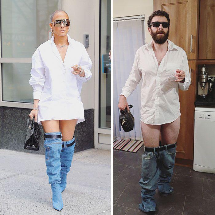 Les gens sont morts de rire après avoir vu comment ce gars s'est moqué du nouveau look de Jennifer Lopez (10 images)