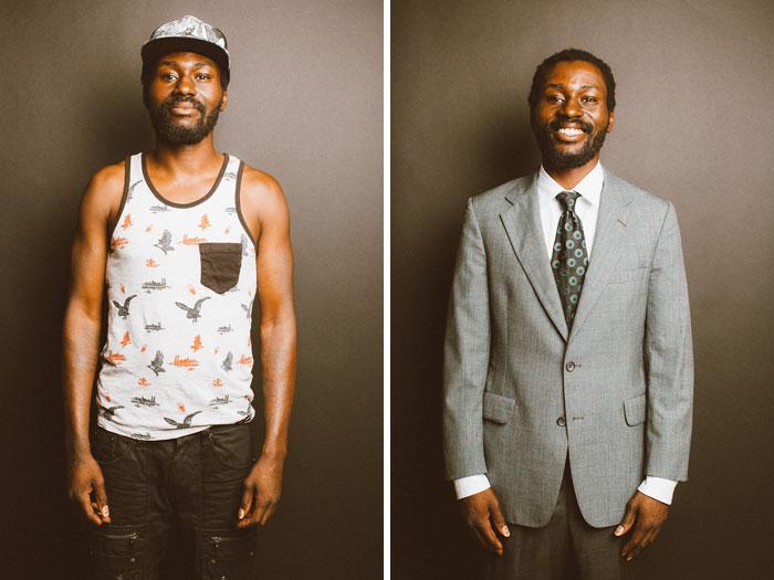 30 hommes avant et après avoir été bien habillés qui montrent comment les vêtements peuvent tout changer