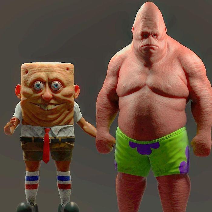 17 versions réalistes de personnages de dessins animés par Miguel Vasquez