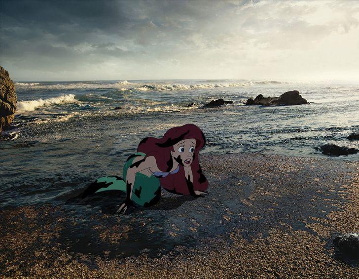 Cet artiste présente un monde de Disney ravagé, et il nous fait penser à sauver le nôtre (17 images)