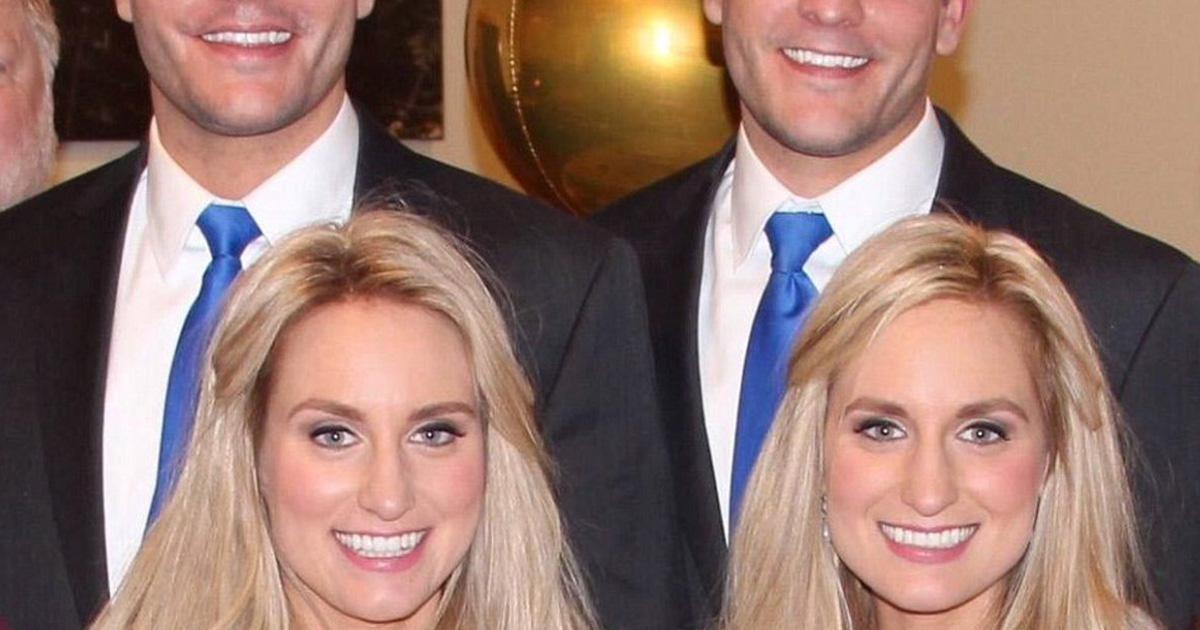 Des jumelles identiques ont épousé des jumeaux identiques et tout le monde pense la même chose en ce moment