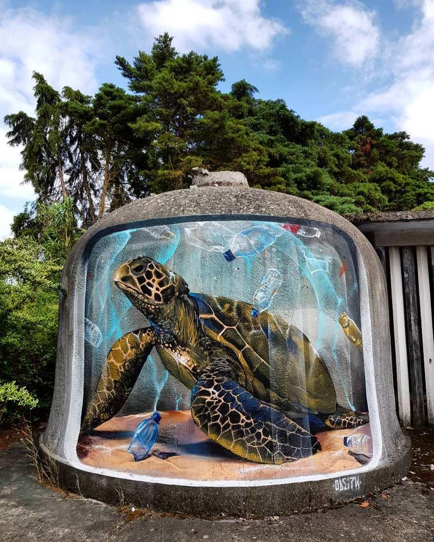 Cet artiste de rue crée des graffitis 3D qui brouillent les frontières entre l'art et la réalité et c'est plus qu'impressionnant