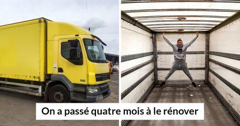Ce couple a dépensé 33000$ pour transformer un vieux camion en maison mobile et l'intérieur est plus beau que la plupart des appartements