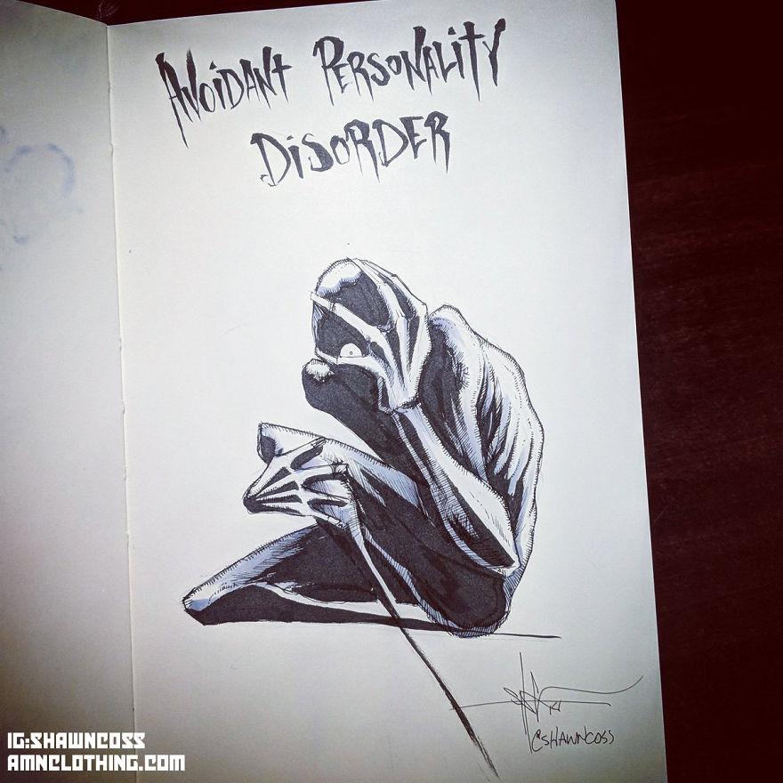 J'ai dessiné certains troubles mentaux pour lutter contre la stigmatisation qui leur est associée (nouvelles images)