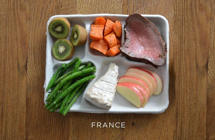 9 photos qui montrent les repas que les enfants mangent à l'école dans différents pays