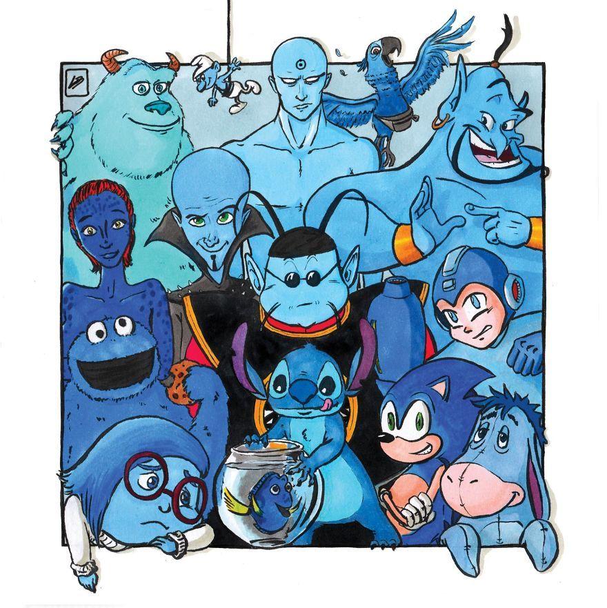 J'ai classé certains personnages célèbres par couleur et voici ce que j'ai découvert