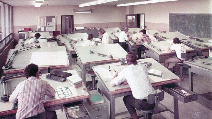 19 vieilles photos qui montrent comment les gens travaillaient avant AutoCAD