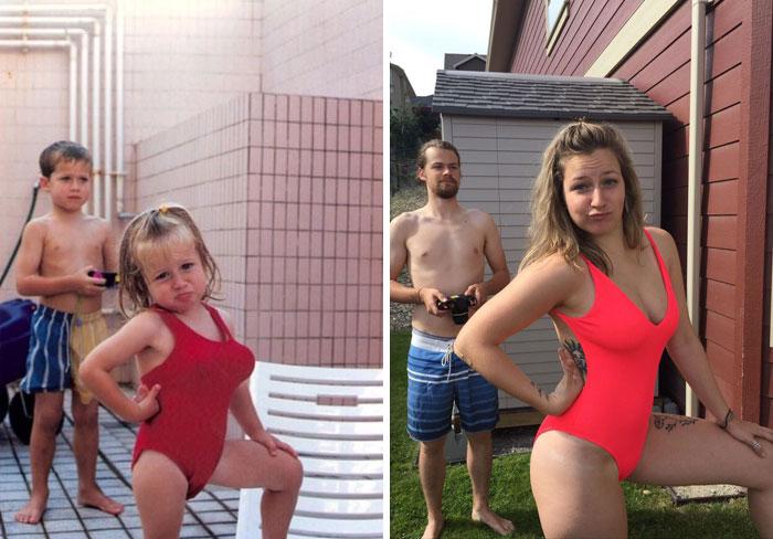 23 personnes qui ont reproduit leurs photos de famille de la meilleure façon possible