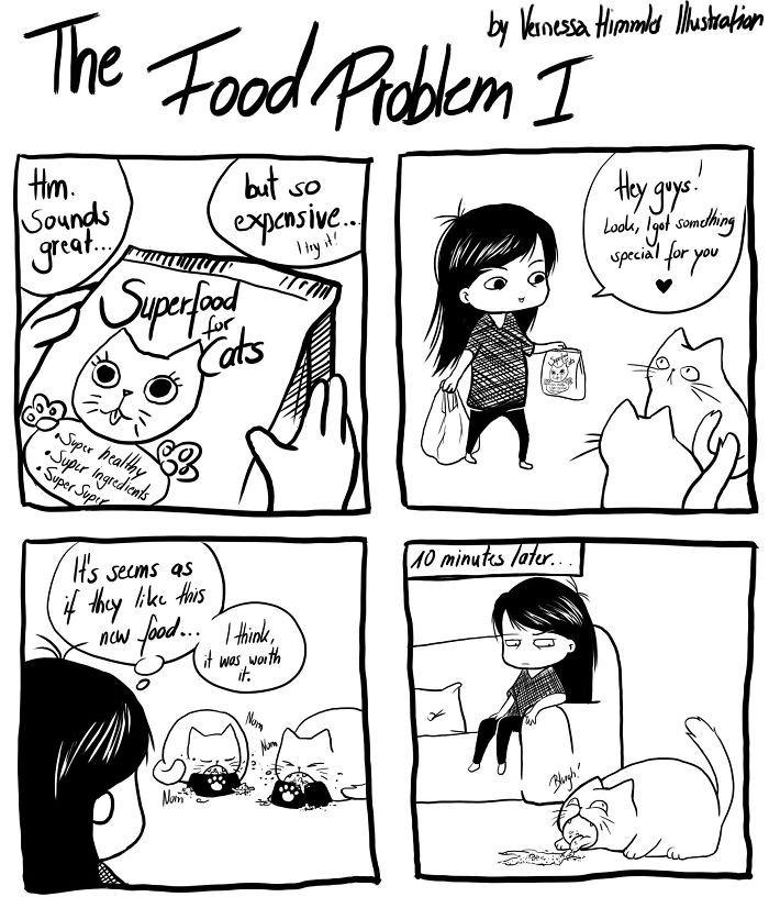 22 bandes dessinées hilarantes qui présentent ma vie avec deux chats coquins