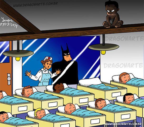 Voici ce qui arriverait si les superhéros avaient des bébés (14 images)
