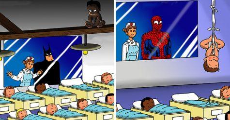 Voici ce qui arriverait si les superhéros avaient des bébés (14 illustrations)
