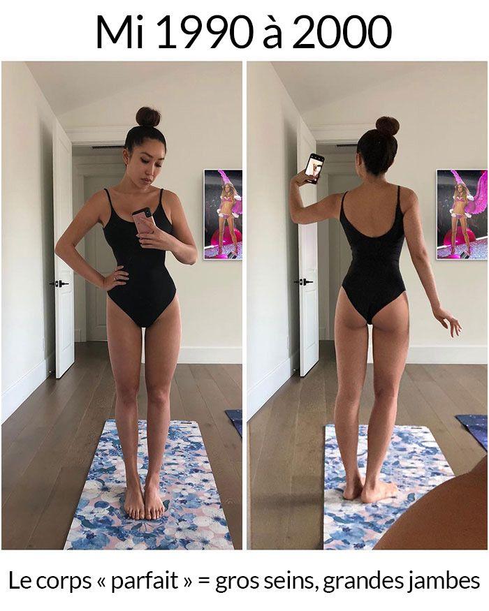 Cette femme a montré à quoi elle ressemblerait si elle avait eu le corps «parfait» à travers l'histoire (6 photos)