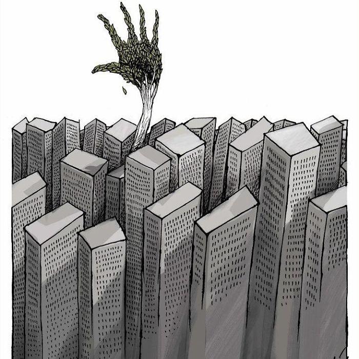 20 illustrations d'une franchise brutale par Angel Boligán qui montrent ce qui cloche avec la société moderne