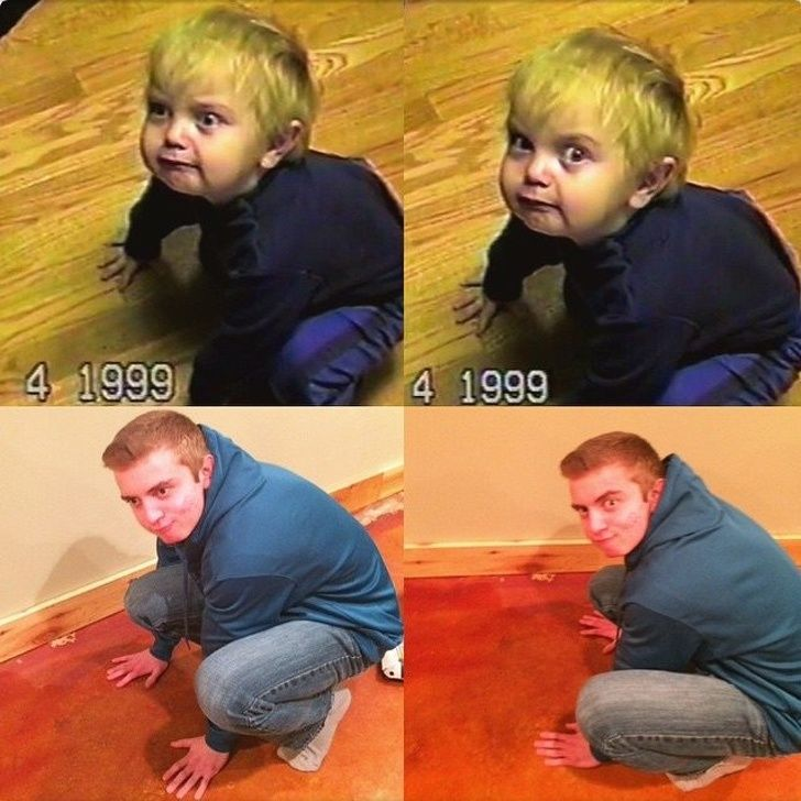 25 fois où des gens ont recréé leurs photos d'enfance et nous ont fait pleurer de rire