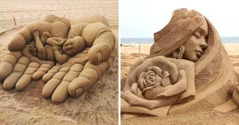 27 fois où des gens ont transformé du sable en oeuvres d'art