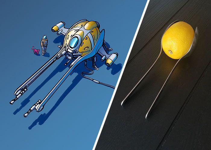 Cet artiste transforme des objets ordinaires en conceptions de vaisseaux spatiaux et le résultat est hors de ce monde (18 images)