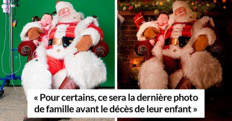 Ces photographes organisent des séances photo magiques de Noël pour les enfants dans les hôpitaux, car pour certains ça pourrait être leur dernier