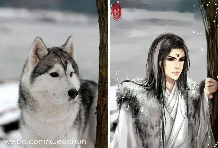 Cet artiste chinois crée des versions humaines de chats et de chiens et le résultat est plutôt réussi (22 images)