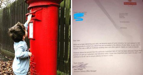 Un garçon de 7 ans a envoyé une lettre au paradis pour son père décédé et la poste lui a répondu de la façon la plus tendre
