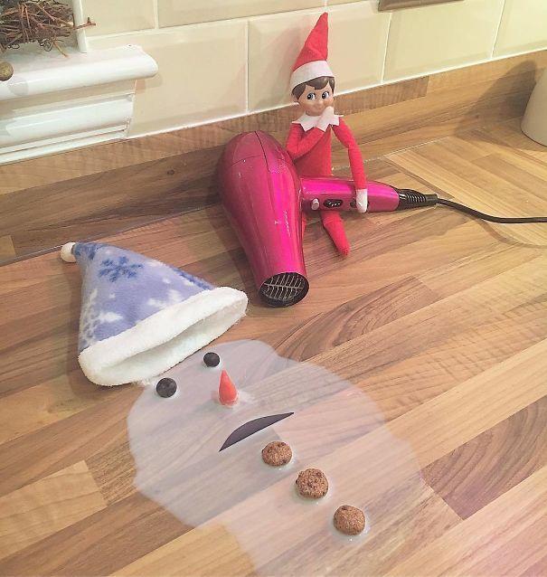 22 idées du lutin de Noël qui vont vous faire rire ou du moins admirer la créativité des gens