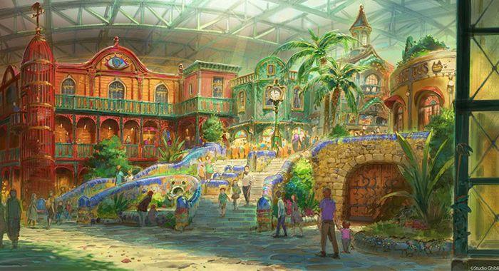 En 2022, un parc à thème du Studio Ghibli va ouvrir ses portes et voici les visualisations