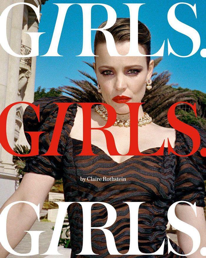 Rachel McAdams pose vêtue de Versace tout en tirant du lait