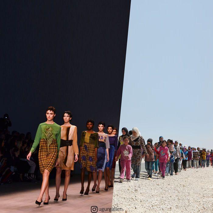 Je montre le contraste entre les deux mondes dans lesquels nous vivons en combinant des photos (22 nouvelles images)