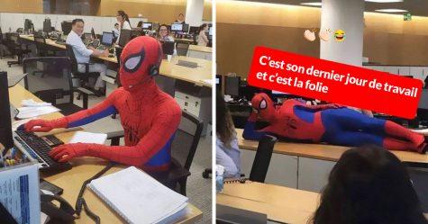 Cet employé de banque a quitté son emploi et s'est présenté comme Spider-Man à son dernier jour