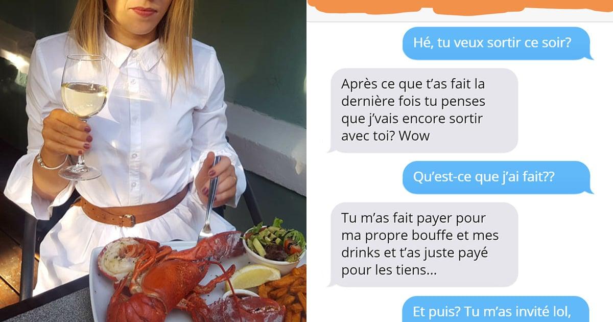 Un gars a refusé de payer 126$ pour le repas d'une fille, alors elle lui a montré son vrai visage