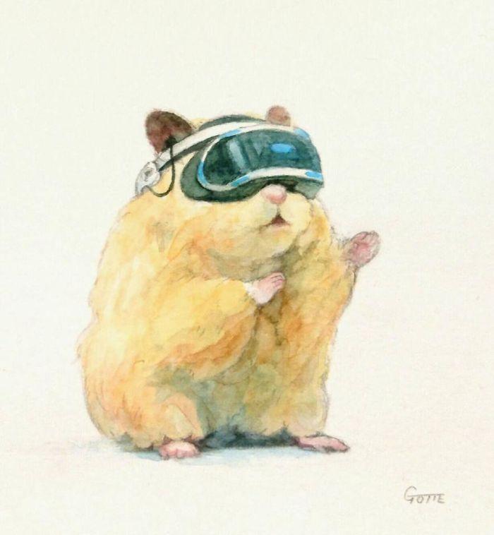 Cet artiste japonais dépeint la vie typique de son hamster et le résultat est adorable (28 images)