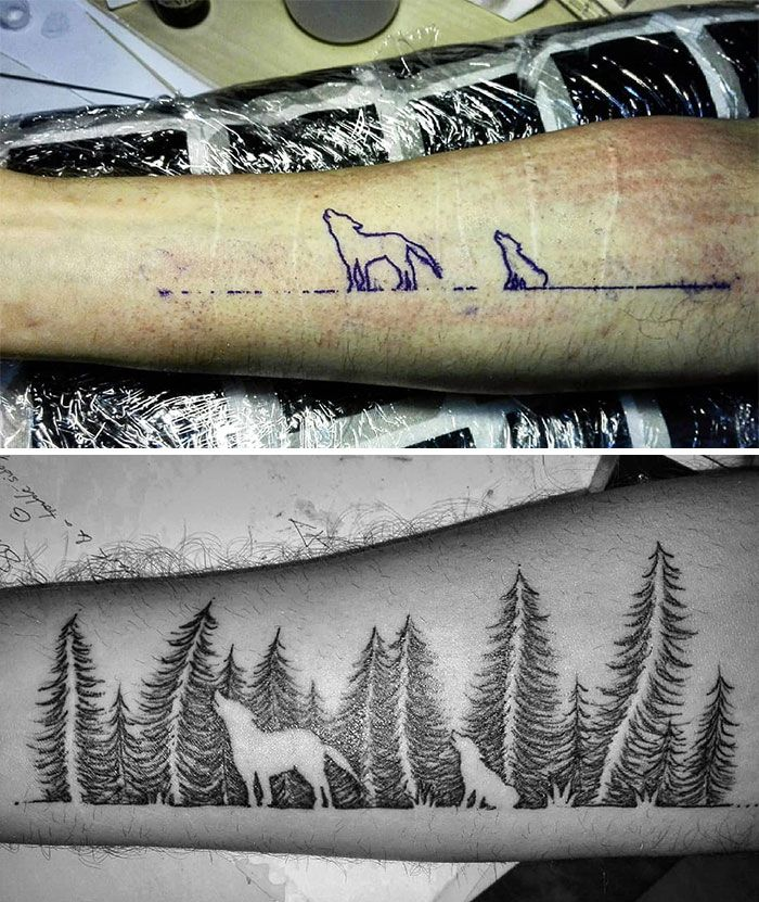 33 fois où des gens ont voulu camoufler leurs cicatrices et leurs taches de naissance et les tatoueurs ont assuré