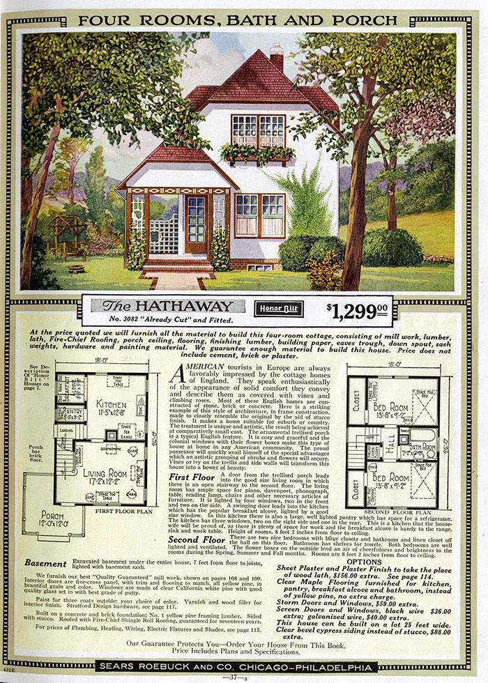 Les gens avaient l'habitude de commander des «maisons en kit» d'un catalogue Sears du début des années 1900 et certaines sont toujours debout