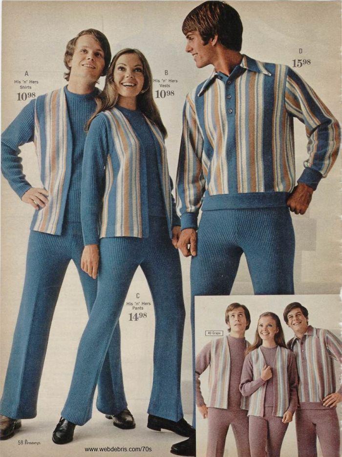 22 tenues ridicules pour elle et lui des années 1970 que tu ne voudrais pas porter en public aujourd'hui