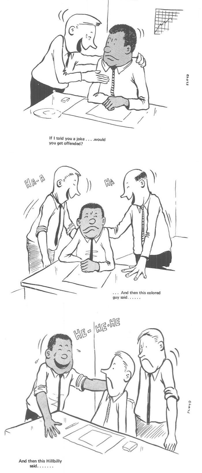 Ce noir a dessiné sa vie en tant que seul homme noir dans un bureau de blancs dans les années 60 et c'est pire que vous ne le pensez