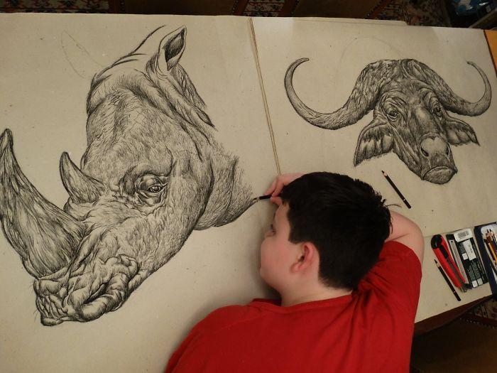 Je savais que je voulais être un artiste dès l'âge de 2 ans, voici ce que j'ai dessiné à l'âge de 16 ans