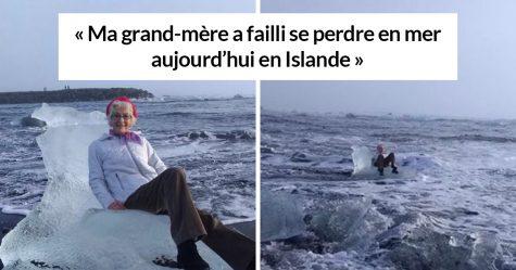Une grand-mère a dérivé paisiblement sur un iceberg après avoir décidé de prendre quelques photos